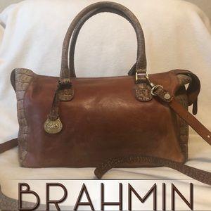Brahmin Leather Crossbody Bag with Handles